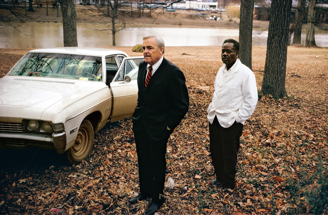 Untitled, 1969 - 70 (the artist's uncle, Ayden Schuyler Senior, with Jasper Staples, in Cassidy Bayou, Summer, Mississippi) by William Eggleston ©Eggleston Artistic Trust