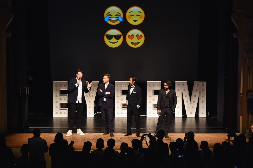 EyeEm's co-founders on stage