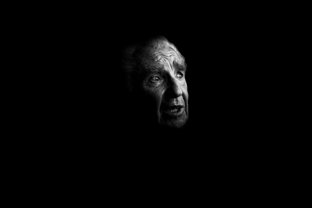 Jerzy Ulatowski, a survivor of the Auschwitz-Birkenau concentration camp.