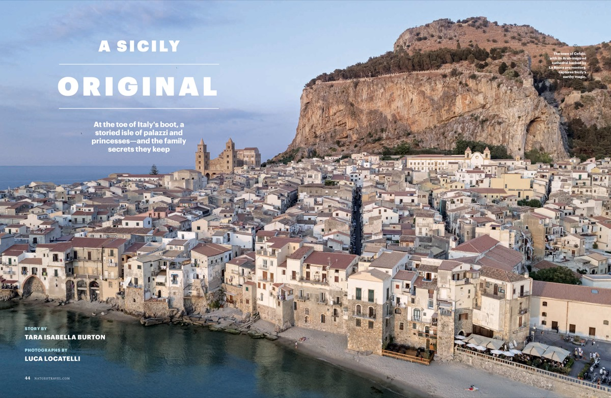 A wide-angle view of Sicily. Used with permission.