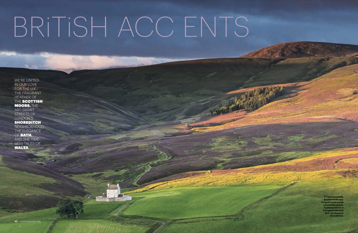 A great example of a landscape shot coupled with a snappy headline to grab the reader's attention. Used with permission.